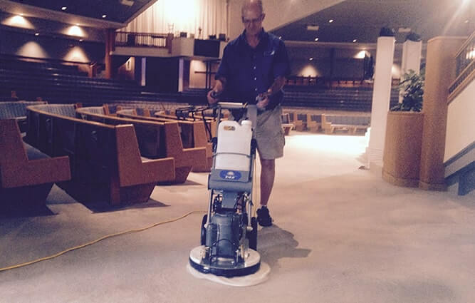 Steve Cleaning a Commercial Carpet